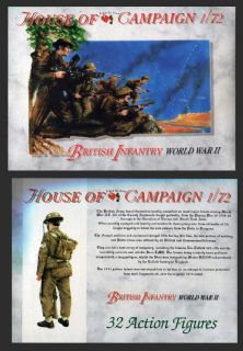 House of Campaign 1.72 scale No. 52 WWII British Infantry (x 32 figs)